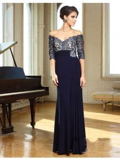 Stylish V-neck Floor-Length Chiffon A-Line/Princess Dresses