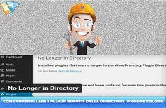 Controllare i plugin rimossi dalla directory WordPress (non più aggiornati)