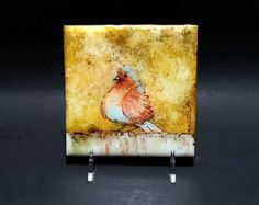 Alcohol Ink Art Watercolor Painting Of Birds Ink Art by YakiArtist