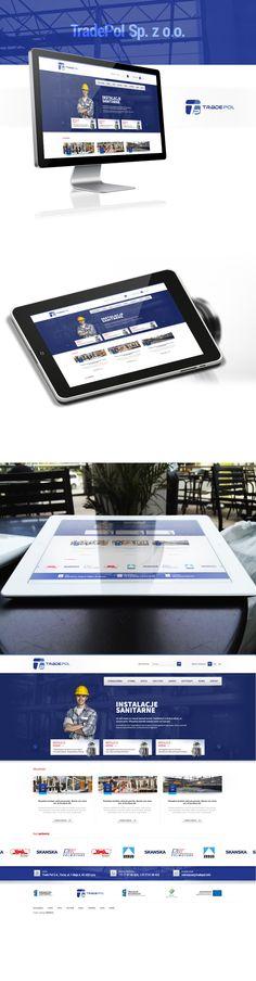 Strona internetowa dla Firmy Tradepol. Strona internetowa dla przemysłu. #industry #tech_website #  http://www.webmedio.pl/