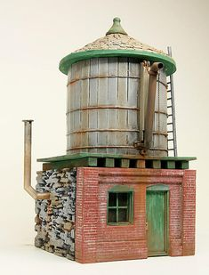 """Railroad Line Forums - The Gallery: Mar. """"Towers: Water, Coal & More"""" Ho Scale Train Layout, Ho Scale Trains, Model Train Layouts, Water Tower, Model Trains, Towers, Modeling, Scenery, Amazon"""