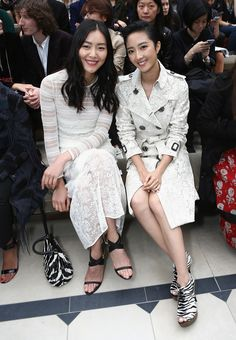 Celebrity Style Front Row at Burberry London Fashion Week Spring 2016 | StyleCaster