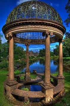 ANCIENT GAZEBO, ENGLAND Ancient Architecture, Beautiful Architecture, Vintage Architecture, Wonderful Places, Beautiful Places, Places Around The World, Around The Worlds, Gazebos, Funny Signs