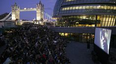 Films at London Bridge City Summer Festival Outdoor Cinema, Outdoor Theater, Things To Do In London, Free Things To Do, Bermondsey Street, Film Festival, London Free, London Films, Bonjour