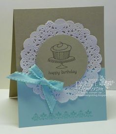handmade cards with doilies - Google Search