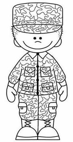 Veterans Day Coloring Page, Memorial Day Celebrations, Military Girl, Remembrance Day, Sunday School Crafts, Kids Church, Green Man, Man Birthday, Digi Stamps