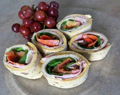 Party Sandwiches #Pinwheel #Lunch #Recipe