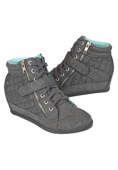 Quilted Wedge Sneakers