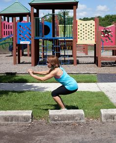 Get a great workout in while at the playground with this and other moves you can do almost anywhere