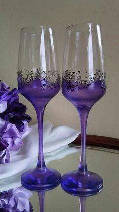 purple wine glasses