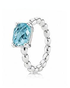 PANDORA Ring - Blue Topaz Cool Breeze | Bloomingdale's