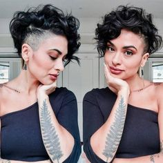 Today we have the most stylish 86 Cute Short Pixie Haircuts. We claim that you have never seen such elegant and eye-catching short hairstyles before. Pixie haircut, of course, offers a lot of options for the hair of the ladies'… Continue Reading → Undercut Curly Hair, Shaved Undercut, Haircuts For Curly Hair, Short Pixie Haircuts, Curly Hair Cuts, Undercut Hairstyles, Short Curly Hair, Short Hair Cuts, Curly Hair Styles