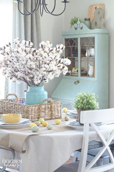 Spring Dining Room - The Golden Sycamore