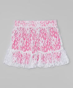 Love this Deep Pink Lace Skirt - Girls on #zulily! #zulilyfinds