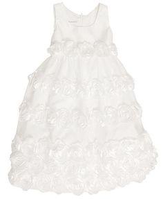 Bonnie Jean Kids Dress, Little Girls Satin Rosette Flower Girl Dress   Add a couple of my flowers in Mint/Aqua or Coral.
