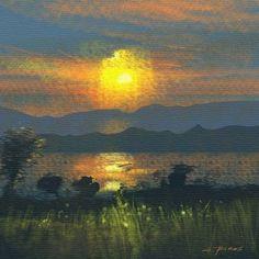 "Saatchi Art Artist Alessandro Piras; Printmaking, ""Sunset 09-22-17 - Limited Edition 1 of 5"" #art"