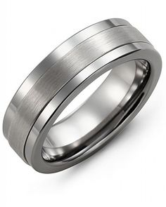 Tungsten & White Gold Band | men's jewelry | Men's Wedding Bands | Canadian Jewelry Exchange | Kelowna, B.C.