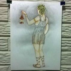"""""""Medusa"""" (aquarela sobre papel) direto dos mitos gregos. #art #arte #ilustração…"""
