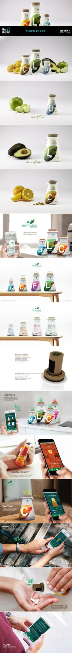 The Dieline Awards 2015: 3rd Place Student- Nutrilinx Dietary Supplements — The Dieline | Packaging & Branding Design & Innovation News