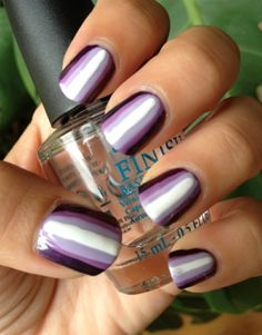 Ombre on each nail with tutorial, super easy manicure.