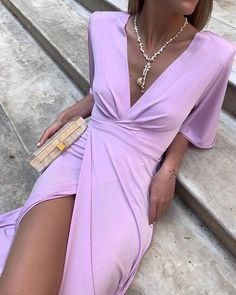 Trend Fashion, Look Fashion, Fashion Outfits, Womens Fashion, Dress For You, Dress Up, Knot Dress, Apron Dress, Evening Dresses
