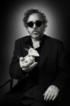 Tim Burton with Frankenweenie