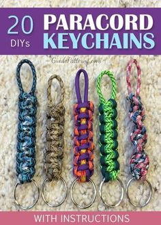 20 DIY Paracord keychain with instructions conductive DIY Paracord keychain with instructions conductive Amazing DIY Paracord Dog Collar Instructions Paracord Tutorial, Paracord Bracelet Instructions, Paracord Ideas, Paracord Keychain, Diy Keychain, Paracord Bracelets, Knot Bracelets, Keychain Ideas, Survival Bracelets