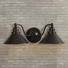 Schaff  2 Light Wall Sconce in Mission Dust Bronze