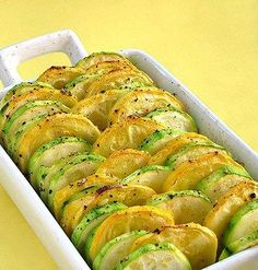Roasted Accordian Style Zucchini and Yellow Squash Topped with Peas and Basil @ $28(Serves 8-10pp)