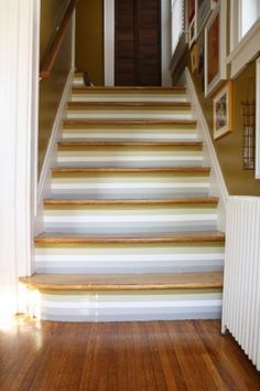 Cool striped stairways. From merrypad.com