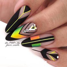 Cute Acrylic Nails, Acrylic Nail Designs, Nail Art Designs, Tribal Nail Designs, Gorgeous Nails, Love Nails, Pretty Nails, Manicure, Diy Nails