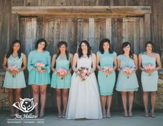 Baby Blue and Turquoise #Bridesmaid #Dresses are a nice combination and add interest to your bridal party attire