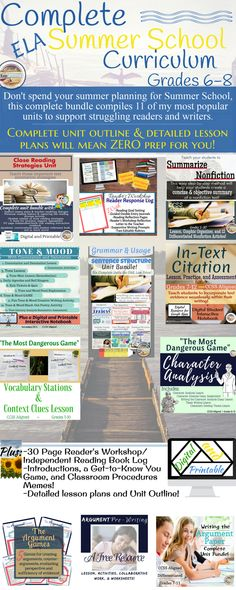 high school literature curriculum 4 bundles of no busywork learning