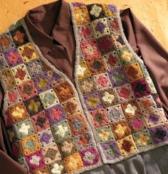 Free Crochet Granny Square Vest Patterns : 1000+ images about krochy 1 on Pinterest Crochet Jacket ...
