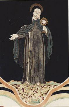 Lovere paliotto altare_santa Chiara_particolare