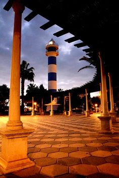 The lighthouse of Torre del Mar in the town of the same name in the municipality of Velez-Malaga, Spain. It is automated by photoelectric cell and was built in the year Malaga Spain, Alicante, Lighthouses, Cn Tower, Trip Advisor, Building, Travel, Light House, Walks