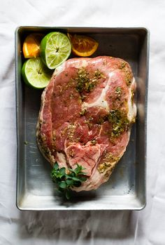 Juicy, Cuban Pulled Pork {made using an uncured ham steak or pork shoulder, #paleo #glutenfree}