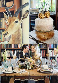 Wedding Blog Taxidermy Goes Glam?  Snake skin around bouquet? Hmmm.......