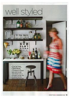 "What do you think of a ""Bar Station"" versus a bar cart?"