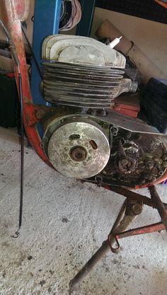 Motor visto por el lado del encendido.