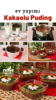 Homemade Chocolate Pudding, Dessert Recipes, Desserts, V60 Coffee, Pyrex, Food And Drink, Easy, Bricolage, Kuchen