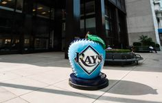 The #TampaBayRays #ASG apple in New York City! Tomorrow night is the game and Ben Zobrist and Matt Moore are there!