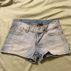 High rise shorts Gently used. They were purchased in slightly distressed condition. BONGO Shorts