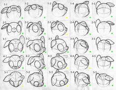 Pony heads - perspective by furor1 on deviantART