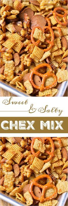 Your favorite snack just got tastier! This Sweet and Salty Chex Mix Recipe combines all your favorite Chex party mix ingredients with maple glazed nuts for a sweet surprise.  #ad #GladtoGive @gladproducts