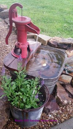 Here are the Garden Water Fountains Ideas. This article about Garden Water Fountains Ideas was posted under the Outdoor category by our team at February 2019 at am. Hope you enjoy it and don't forget to share this . Garden Yard Ideas, Front Yard Landscaping, Garden Decor, Water Fountains Outdoor, Fountains, Water Garden, Garden Art Projects, Diy Water, Rustic Gardens