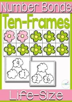 Your students will love learning about ten-frames and number bonds with this fun life-size ten-frame activity! Add the flowers to the ten-frame to represent the number bonds shown on the cards. A great way to build understanding!