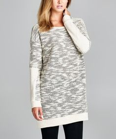Another great find on #zulily! Gray Marled French Terry Sweater Tunic #zulilyfinds