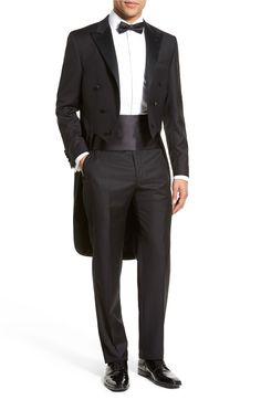Main Image - Hickey Freeman Classic Fit Tasmanian Wool Tailcoat Tuxedo
