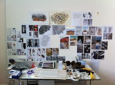 My studio at college, third year in textiles.
